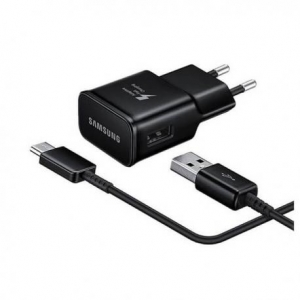 Nabíječ Samsung EP-TA20EBE + kabel EP-DG950CBE - micro USB Typ C 2A (bulk) černá