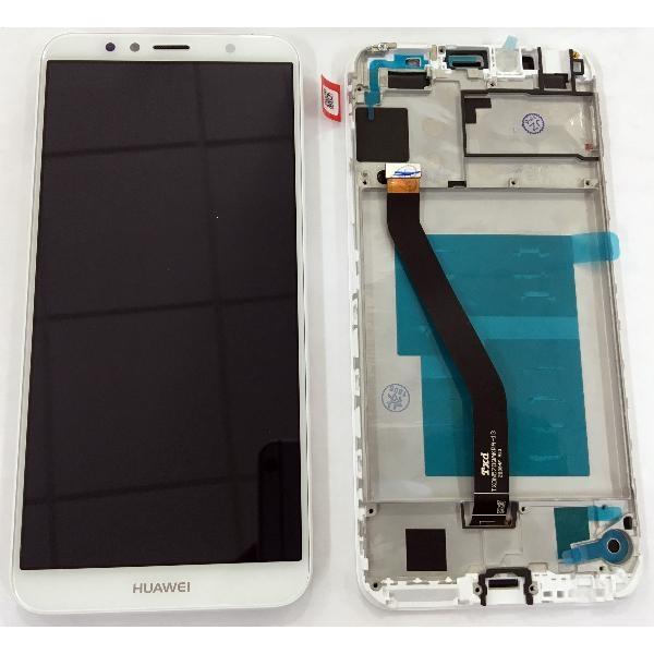 Dotyková deska Huawei Y6 (2018), Y6 PRIME (2018), HONOR 7A + LCD s rámečkem bílá