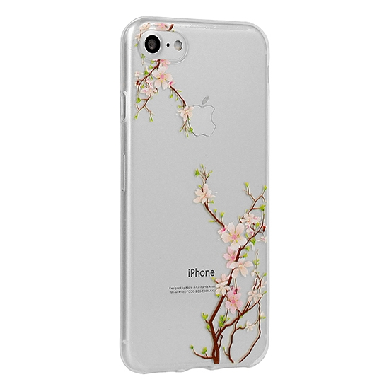 Pouzdro FLORAL Ultra Slim Huawei Y6 2018 Cherry