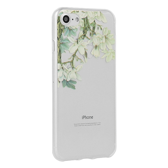 Pouzdro FLORAL Ultra Slim iPhone X, XS (5,8) Jasmine