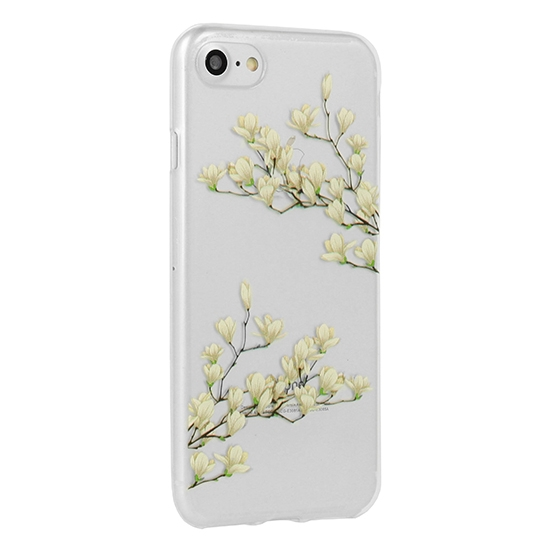 Pouzdro FLORAL Ultra Slim iPhone X, XS (5,8) Magnolia