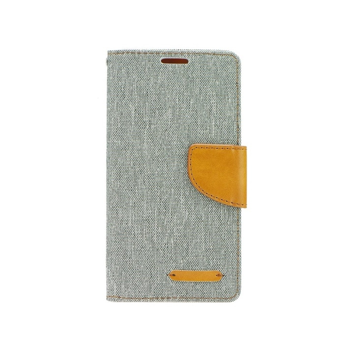 Pouzdro CANVAS Fancy Diary iPhone 5, 5S, 5C, SE šedá
