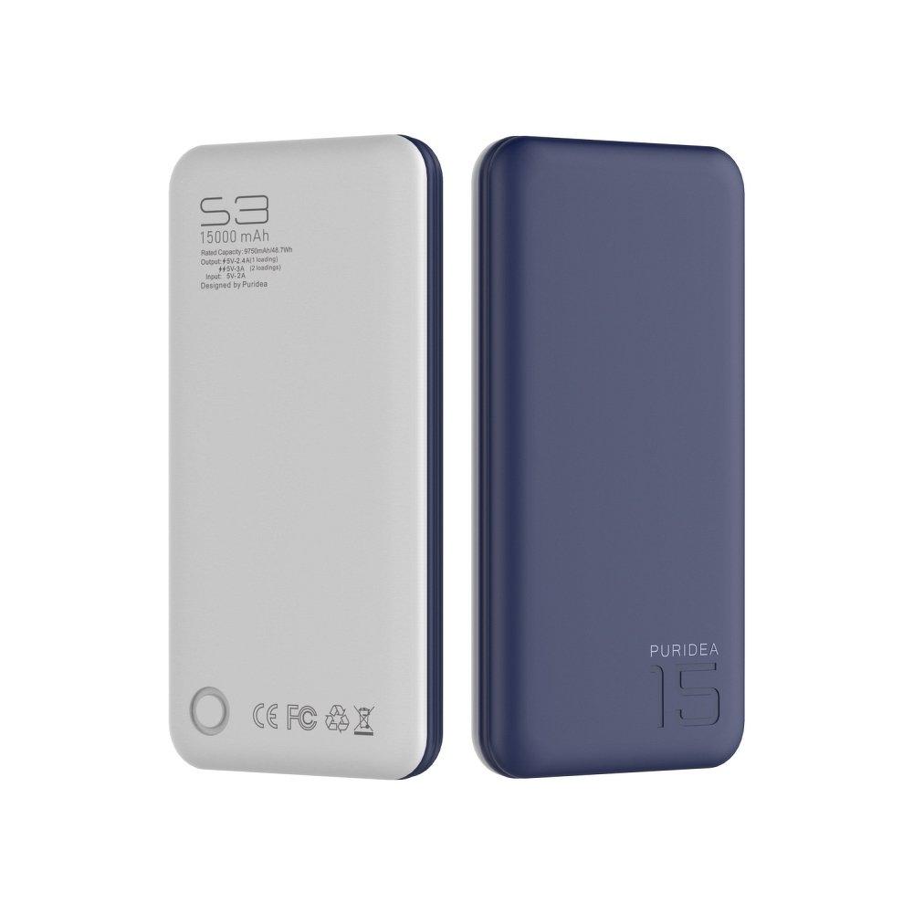 Externí baterie POWER BANK PURIDEA S3 15000mAh modrá