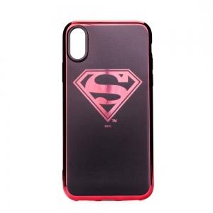 Pouzdro iPhone XS MAX (6,5) Superman Luxury Chrome vzor 004