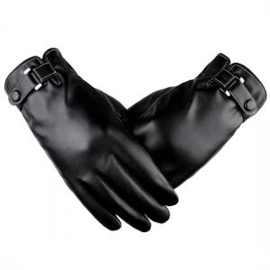 Rukavice pro dotykové LCD LEATHER barva černá