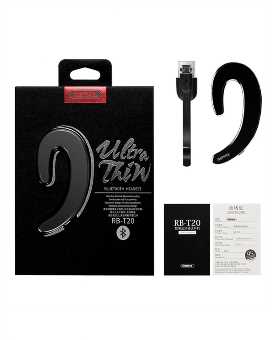 Bluetooth headset REMAX RB-T20 (multi-point + EDR) barva černá