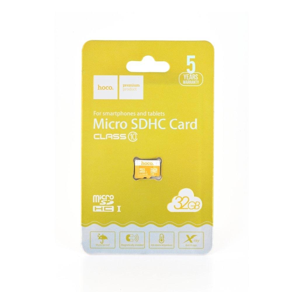 Paměťová karta micro SD HOCO 32GB Class 10 (USB 3.0) High Speed Blistr