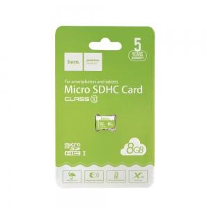 Paměťová karta micro SD HOCO 8GB Class 10 (USB 3.0) High Speed Blistr