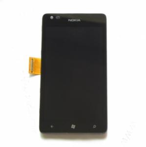 Dotyková deska Nokia 900 Lumia + LCD černá
