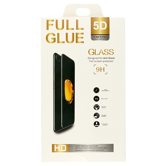 Tvrzené sklo 5D FULL GLUE Huawei P SMART (2019) černá