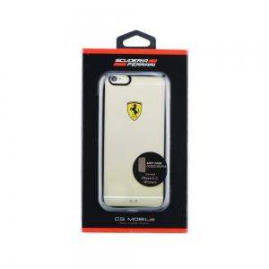 Pouzdro Ferrari iPhone 6, 6S (4,7) Hardcase FEHCP6BK transparentní / černá