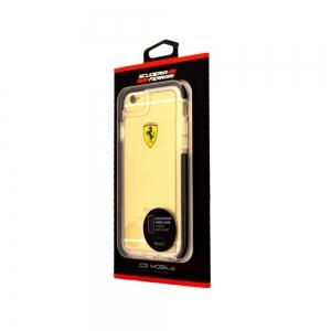 Pouzdro Ferrari iPhone 7, 8 (4,7) Hardcase Shockproof FEGLHCP7BK černá