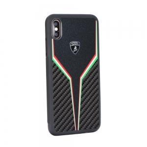 Pouzdro Lamborghini iPhone XS MAX (6,5) SC D2 Back Cover LB-TPUPCIPXSM-SC/D2-BK černá