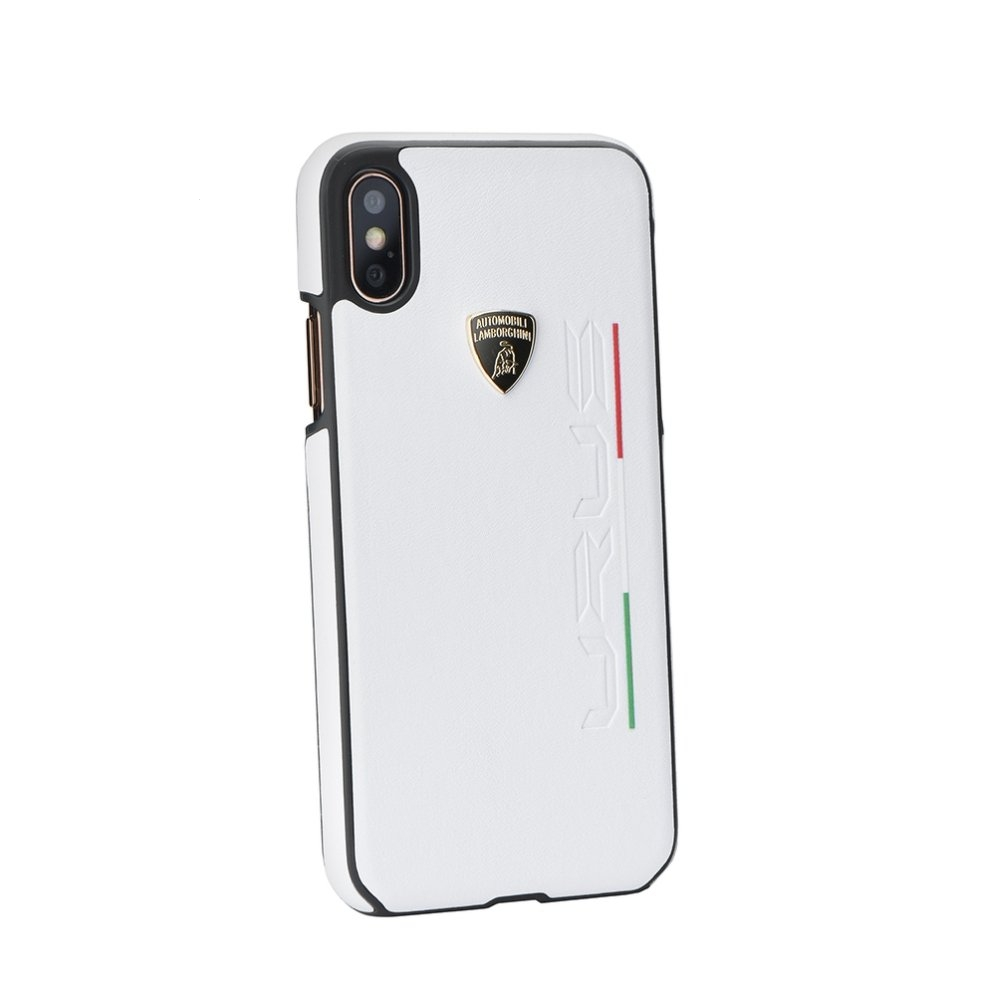 Pouzdro Lamborghini iPhone X, XS (5,8) URUS-D2 Back Cover LB-HCIPX-UR/D2-WE bílá