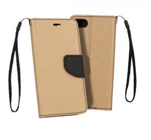 Pouzdro FANCY Diary iPhone XS MAX (6,5) barva zlatá/černá