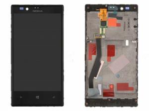 Dotyková deska Nokia 720 Lumia + LCD + rám černá