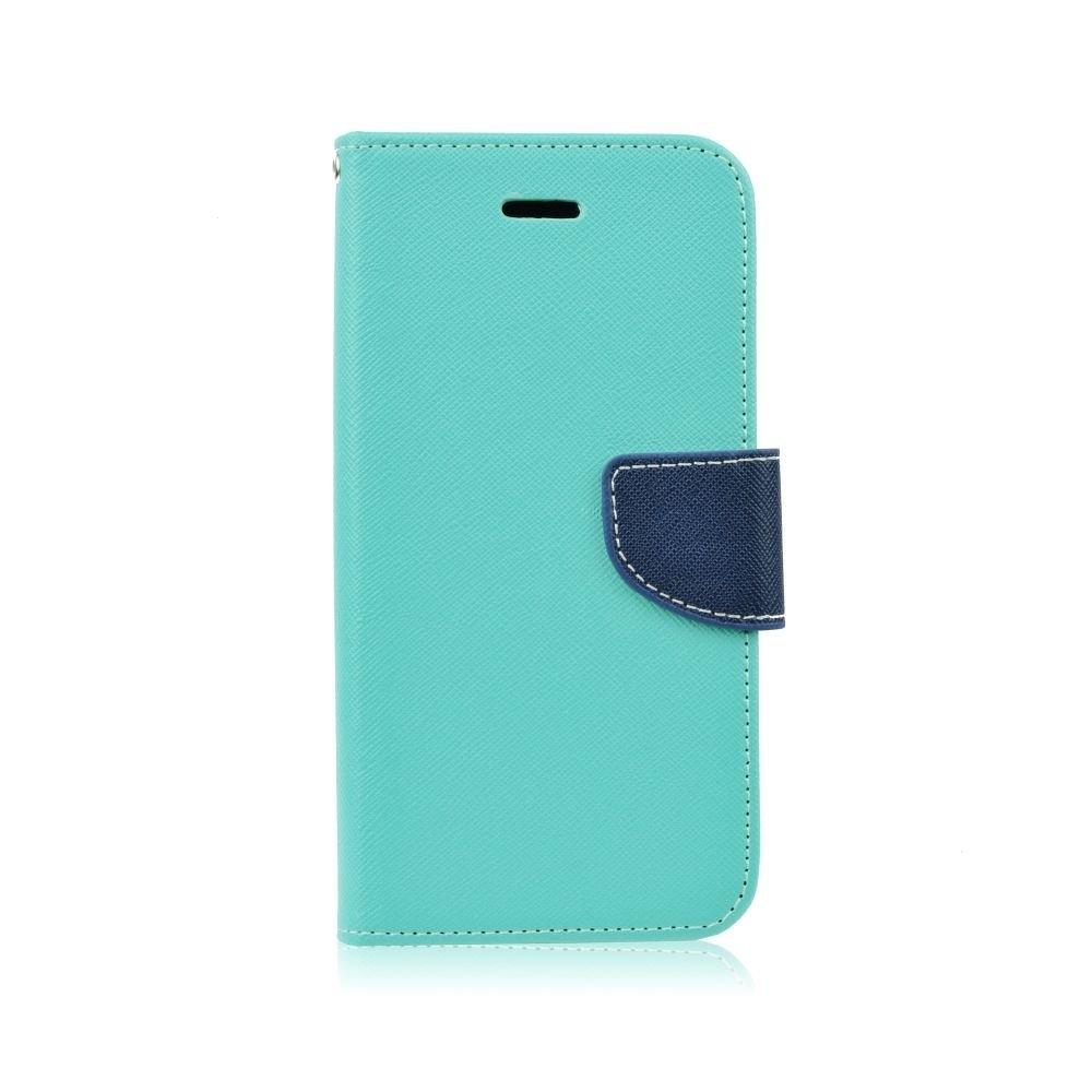 Pouzdro FANCY Diary TelOne Huawei Y6 (2018), Y6 PRIME (2018) barva světle modrá/modrá - bez otvoru otisku