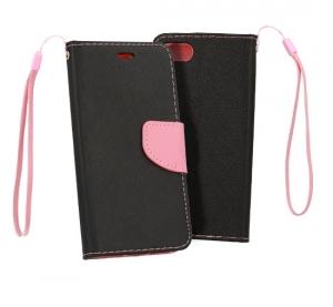 Pouzdro FANCY Diary Xiaomi Mi 8 LITE barva černá/růžová