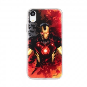 Pouzdro iPhone X, XS (5,8) MARVEL Iron Man Multicolor vzor 003