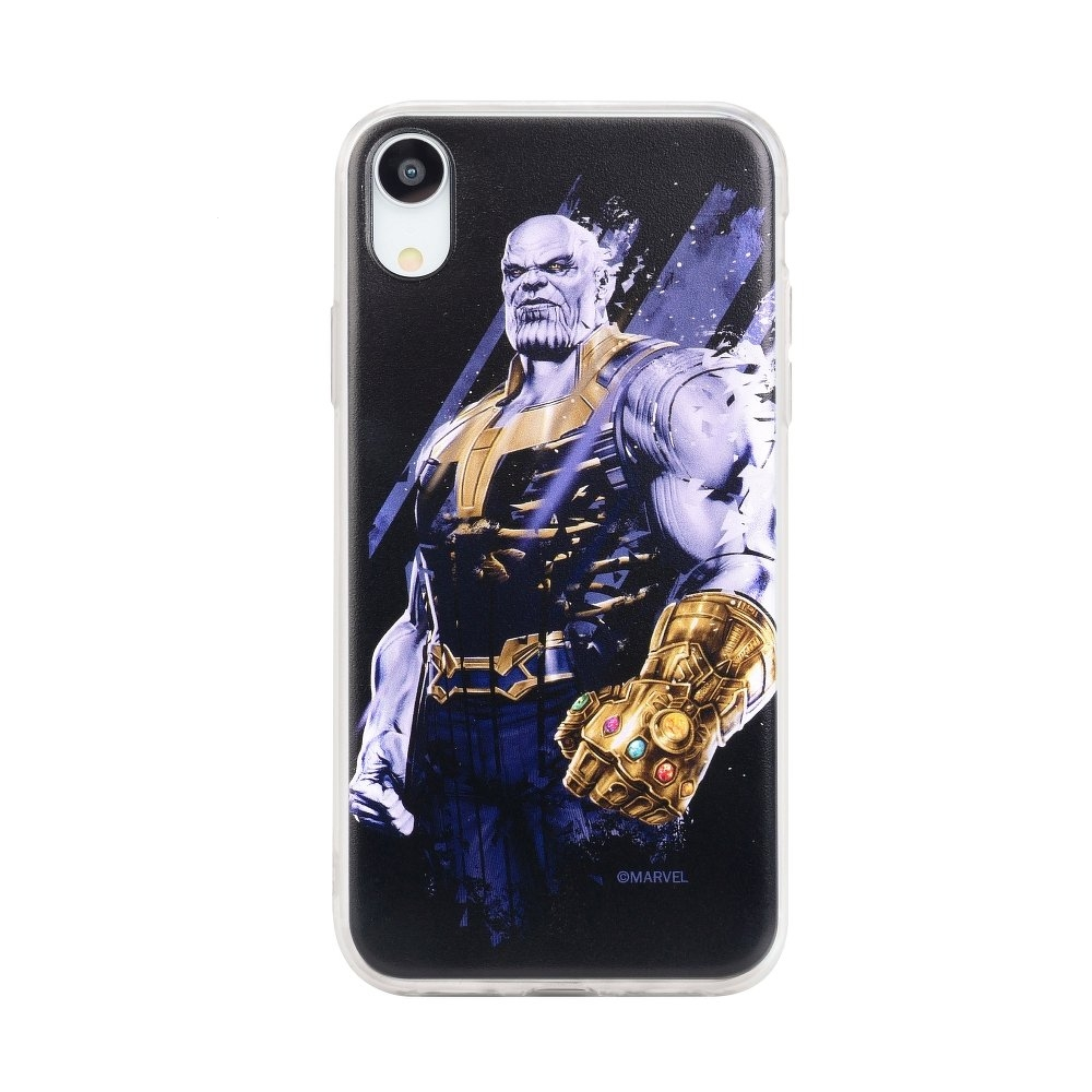 Pouzdro iPhone X, XS (5,8) MARVEL Thanos vzor 003