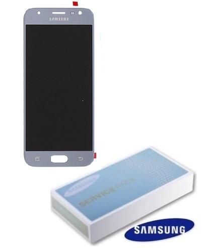 Dotyková deska Samsung J330 Galaxy J3 (2017) + LCD silver Service Pack - originál