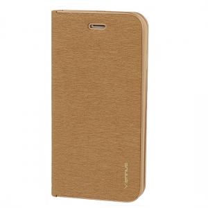 Pouzdro LUNA Book iPhone XS MAX (6,5) barva zlatá