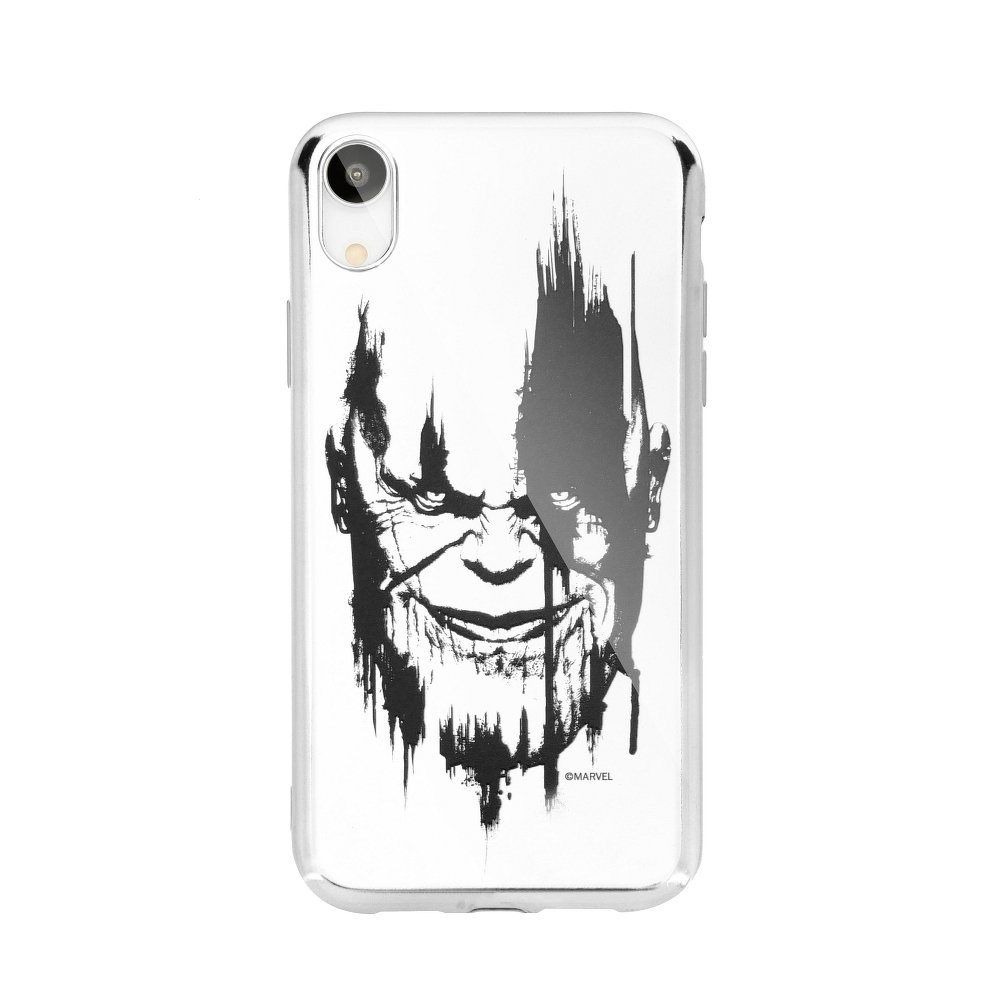 Pouzdro iPhone 6, 6S, 7, 8 (4,7) MARVEL Thanos Luxory Chrome vzor 004 - silver