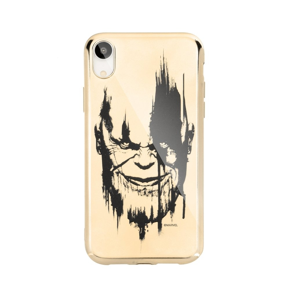 Pouzdro iPhone 6, 6S, 7, 8 (4,7) MARVEL Thanos Luxory Chrome vzor 004 - gold