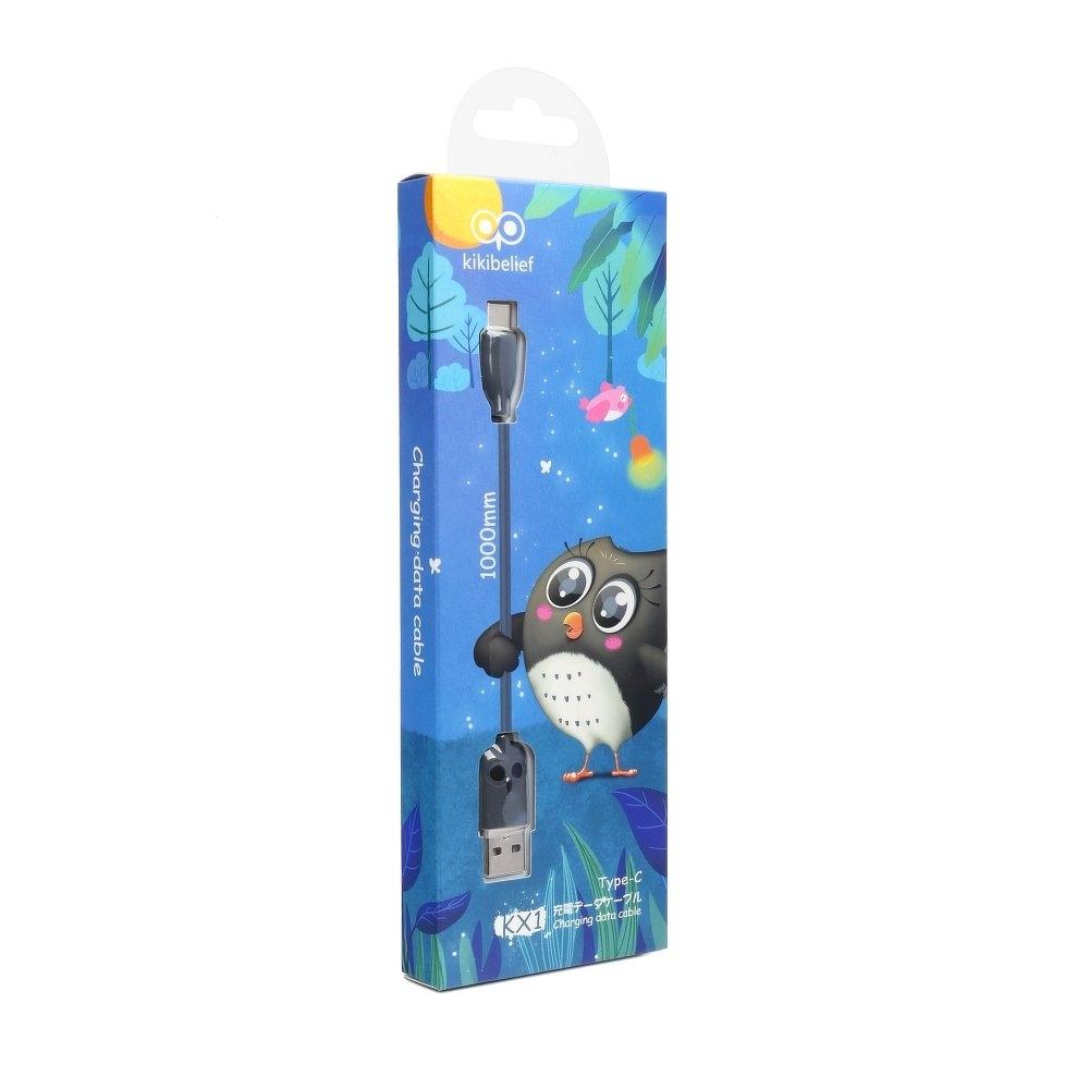Datový kabel HOCO KX1 OWN kikibelief micro USB TYP-C barva černá
