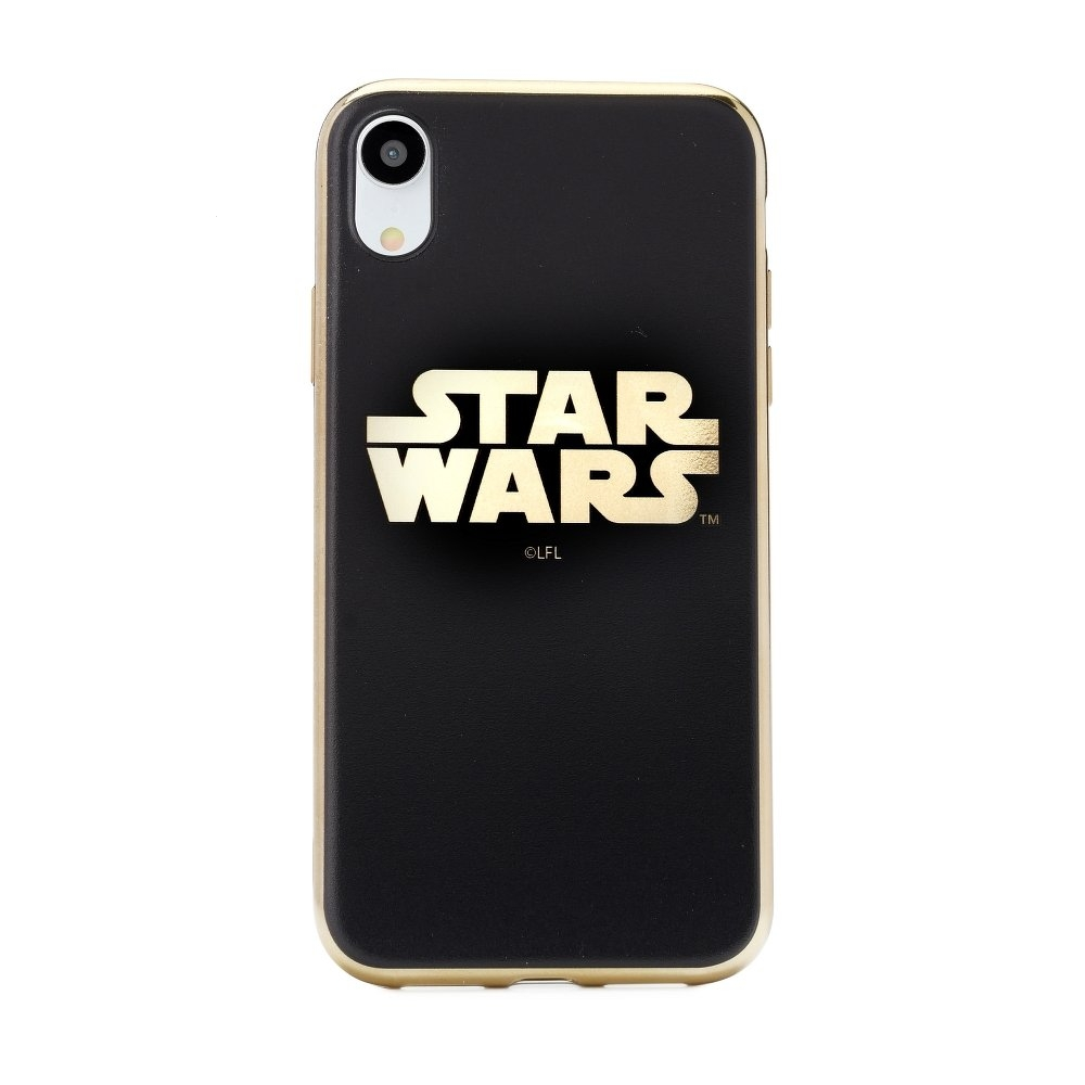 Pouzdro iPhone X, XS (5,8) Star Wars Luxory Chrome vzor 002 - gold