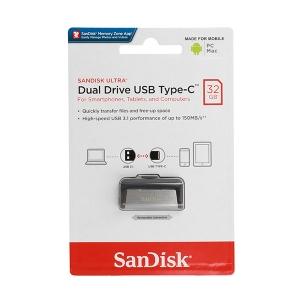 USB Flash Disk (PenDrive) SANDISK ULTRA DUAL DRIVE 32GB USB 3.0 150MB/s - micro USB Typ C