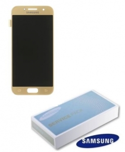 Dotyková deska Samsung A320 Galaxy A3 (2017) + LCD gold Service Pack - originál
