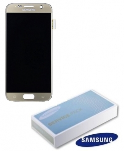 Dotyková deska Samsung G930 Galaxy S7 + LCD gold Service Pack - originál