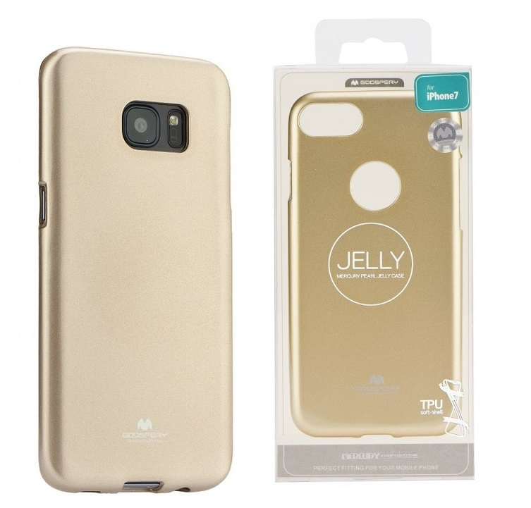 Pouzdro MERCURY Jelly Case Samsung A750 Galaxy A7 (2018) zlatá