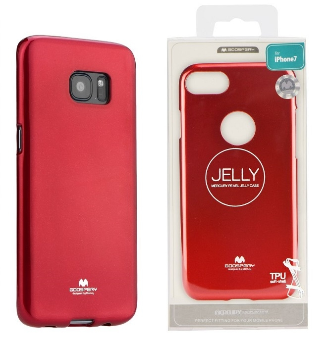 Pouzdro MERCURY Jelly Case Samsung A750 Galaxy A7 (2018) červená
