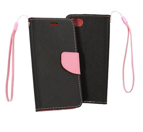 Pouzdro FANCY Diary TelOne Samsung A750 Galaxy A7 (2018) barva černá/růžová