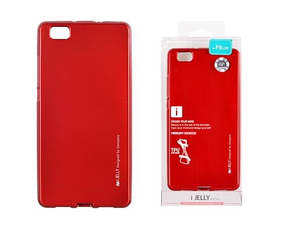 Pouzdro MERCURY i-Jelly Case METAL Samsung A750 Galaxy A7 (2018) červená