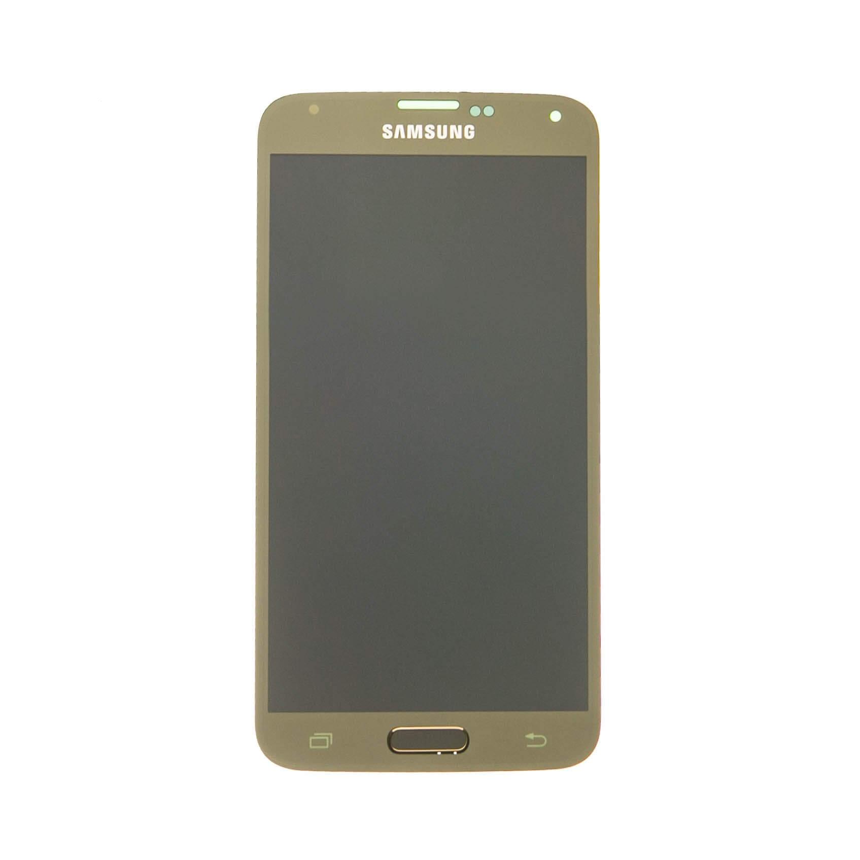 Dotyková deska Samsung G900 Galaxy S5 + LCD gold Service Pack - originál