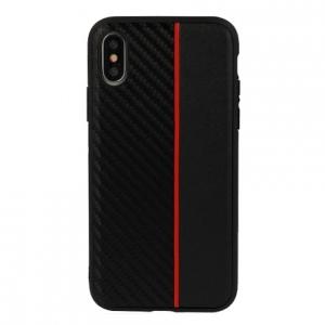 Pouzdro Moto Carbon Samsung A600 (A6 2018), barva černá/červená