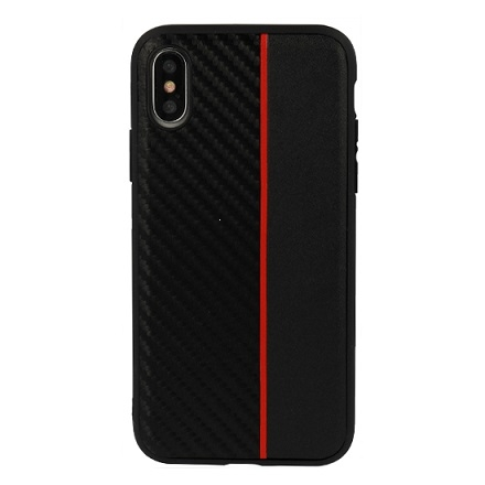 Pouzdro Moto Carbon Huawei Mate 20 Pro, barva černá/červená