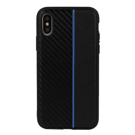 Pouzdro Moto Carbon Huawei P Smart 2019, barva černá/modrá