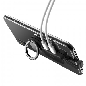 HOCO LS22 Adaptér iPhone 2 x lightning + držák RING